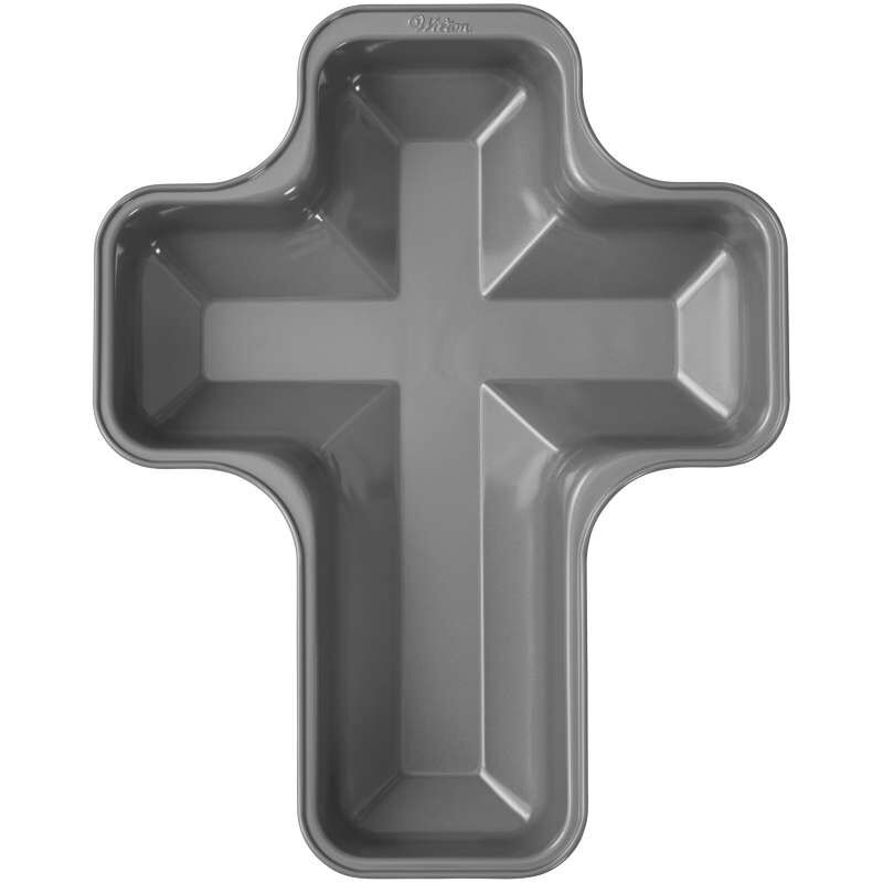 Treats Made Simple Non-Stick Cross Cake Pan image number 0