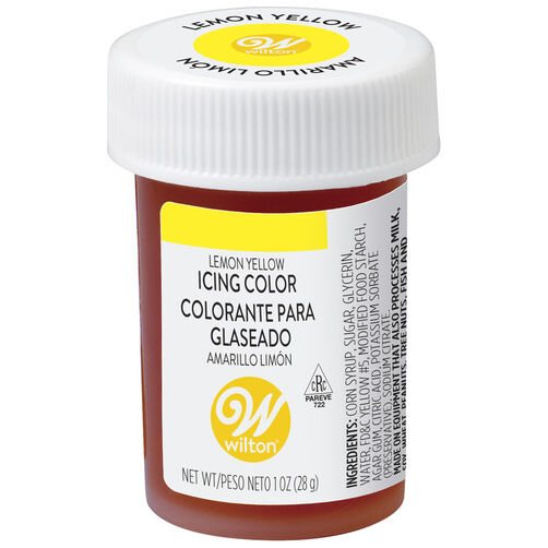 Lemon Yellow Gel Food Coloring Icing Color | Wilton