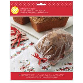Poinsettia Mini Loaf Plate Kit, 8-Count