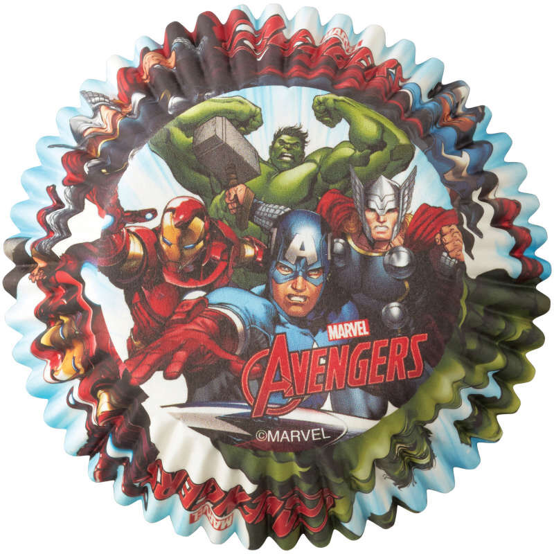 Marvel Avengers Cupcake Liners, 50-Count image number 0