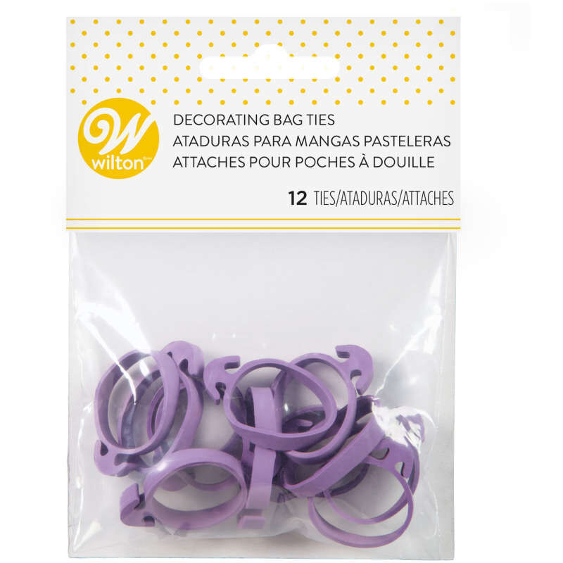 Icing Bag Ties, 12-Count - Rubber Icing Bag Ties image number 1