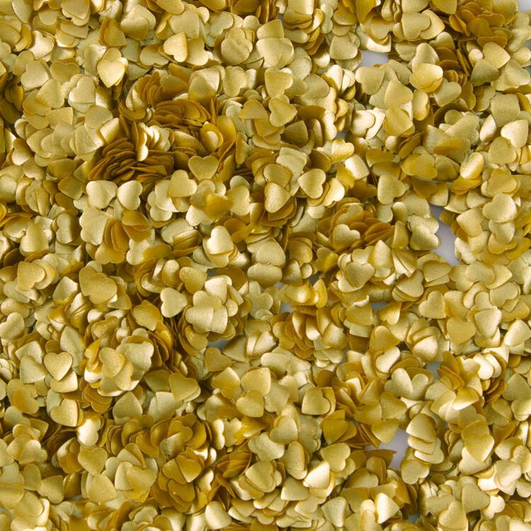 Gold Heart Edible Accents, 0.06 oz. - Cake Decorating Supplies