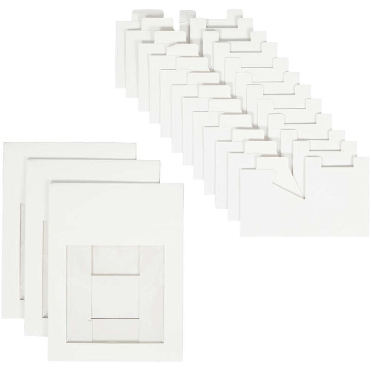 4-Cavity White Window Bakery Boxes with Dividers, 3-Count