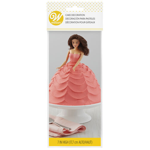 Brunette Doll Cake Topper