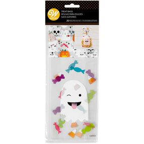 Ghost Emoji Treat Bags, 20-Count
