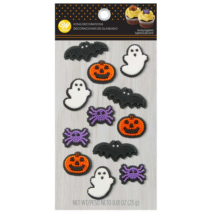 Halloween Shapes Icing Decorations, 12-Count