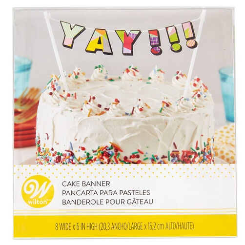 Images Yay Birthday Cake Banner