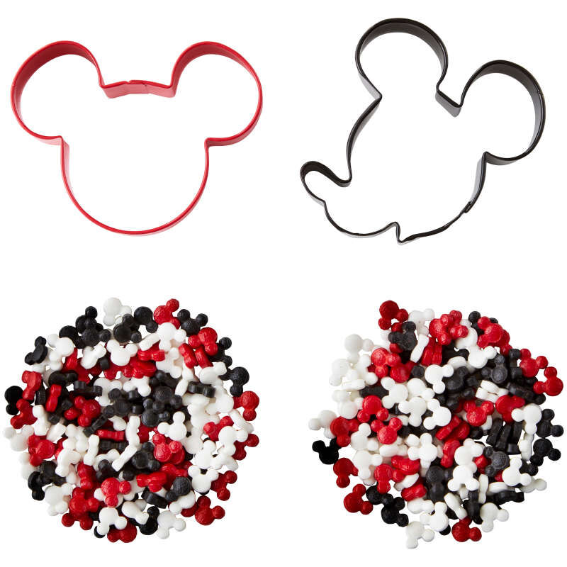 Mickey Mouse Cookie Cutter and Sprinkles Decorating Set, 4-Piece image number 0