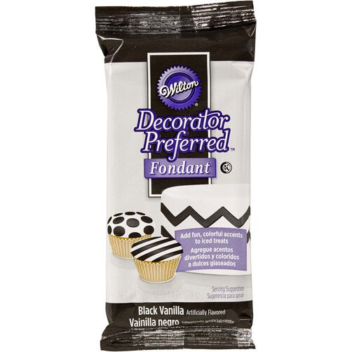 Decorator Preferred Black Fondant Pack 4.4 oz.
