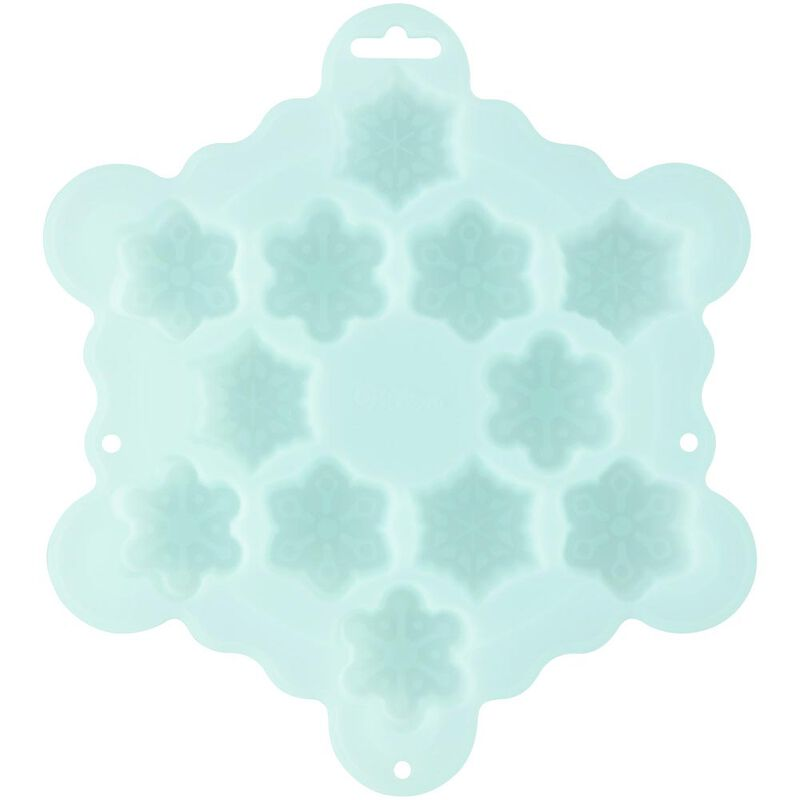 Silicone Snowflake Mini Treat Mold, 12-Cavity image number 0
