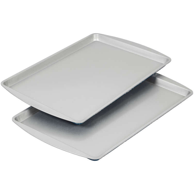 Bake and Bring Snowflake Print Non-Stick 9 x13 Cookie Sheet Set, 2-Count image number 3