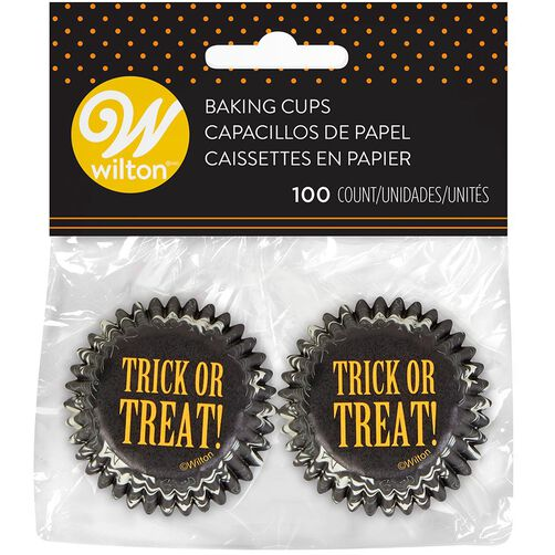 Halloween Paisley Trick Or Treat Mini Cupcake Liners, 100-Count