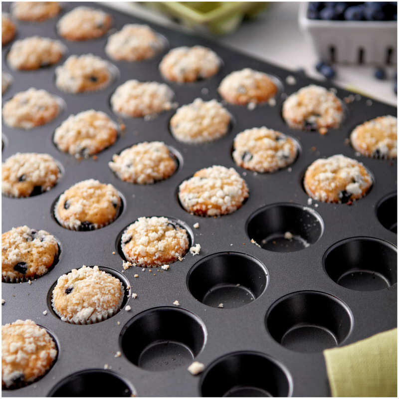 Perfect Results Non-Stick Mega Mini Muffin and Cupcake Pan, 48-cup image number 3