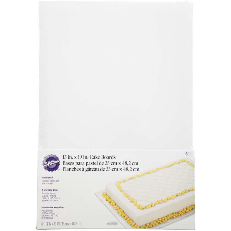 13 x 19-Inch Rectangular Cake Boards, 5-Piece image number 0