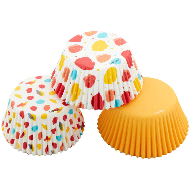 Large Polka Dot, Small Polka Dot and Yellow Standard Baking Cups, 75-Count image number 0