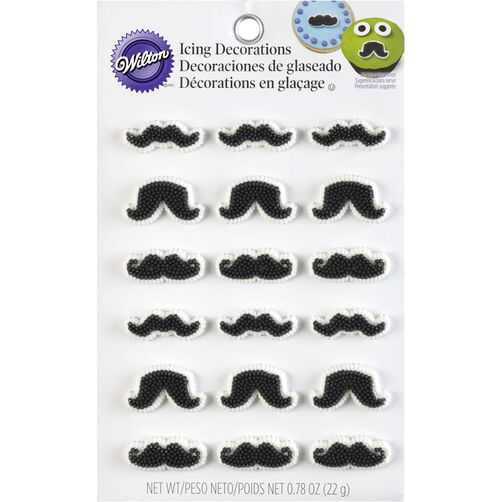 Wilton Mustache Candy Decorations