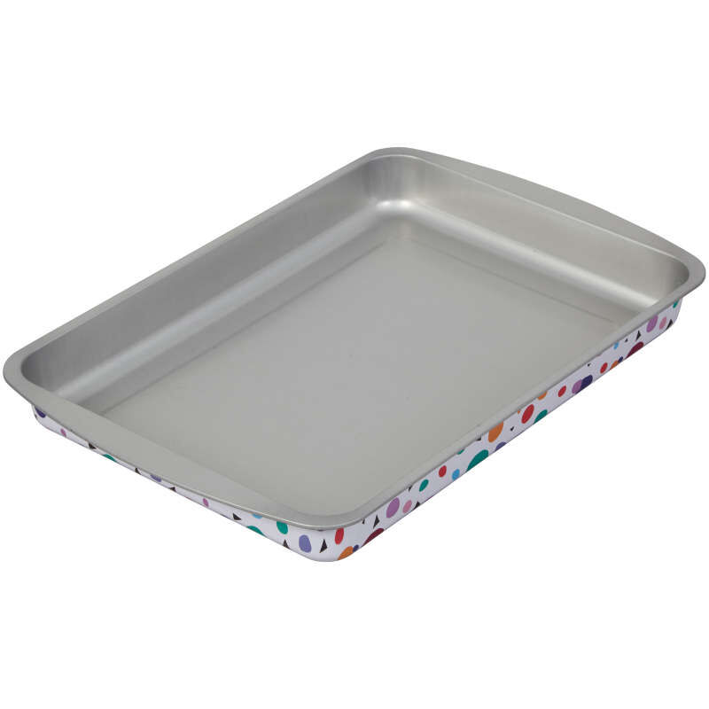 Triangle Print Birthday Cake Pan and Decorating Set, 3-Piece image number 2