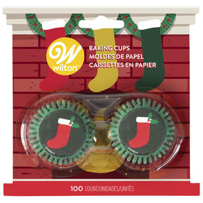 Stockings Mini Cupcake Liners, 100ct
