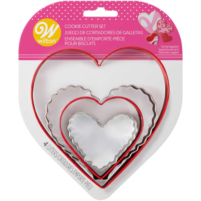 Nesting Heart Cookie Cutter Set, 4-Piece image number 1