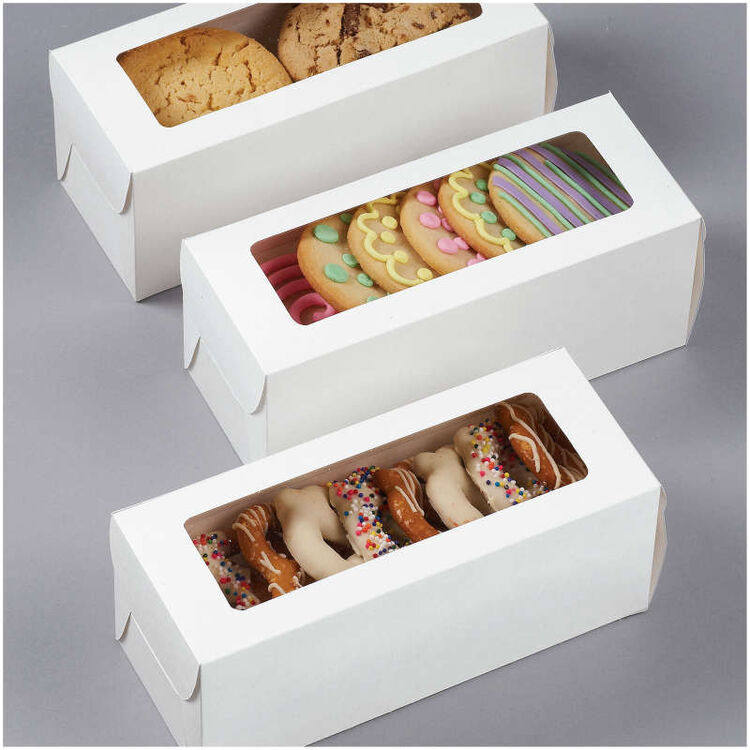 White Rectangle Treat Boxes, 3-Count