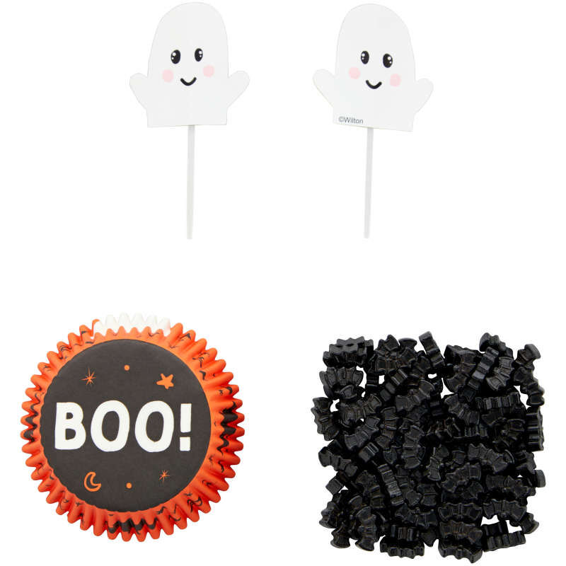 Whimsical Ghost Cupcake Decorating Kit, 24 Sets image number 1