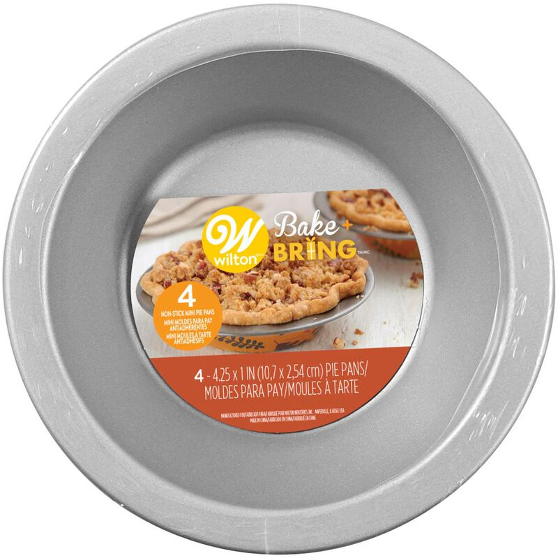 Bake and Bring Autumn Print Mini Non-Stick Pie Pans, 4-Count image number 1