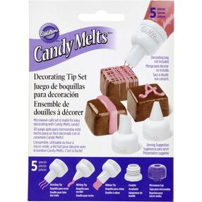 Wilton Candy Decorating Tips - Candy Melts Piping Tip Set