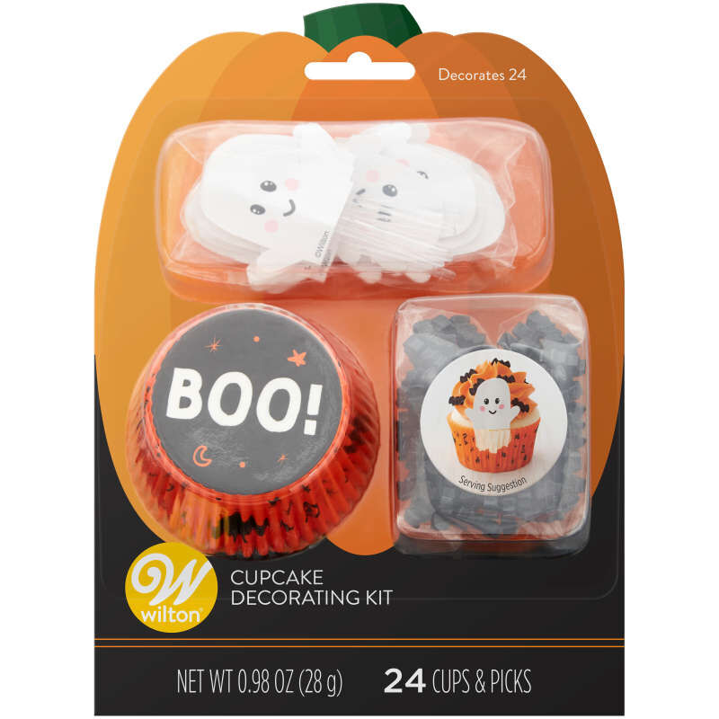 Whimsical Ghost Cupcake Decorating Kit, 24 Sets image number 0