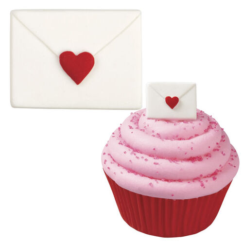 Envelope with Heart Royal Icing Decorations