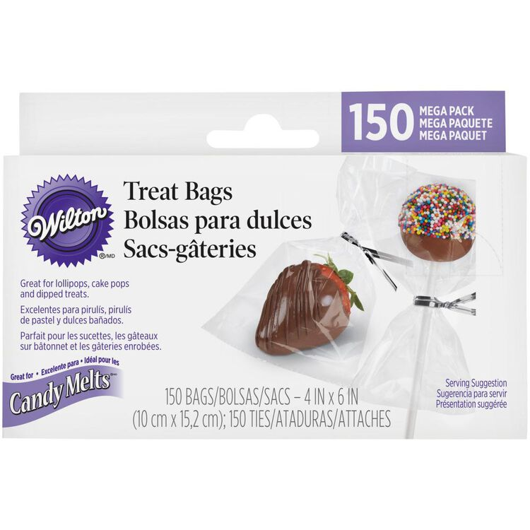 Clear Confectionary Bags, 150-Count