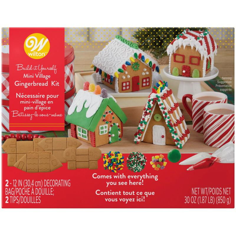 Build it Yourself Welcome to Christmas Mini Village Gingerbread Decorating Kit image number 0