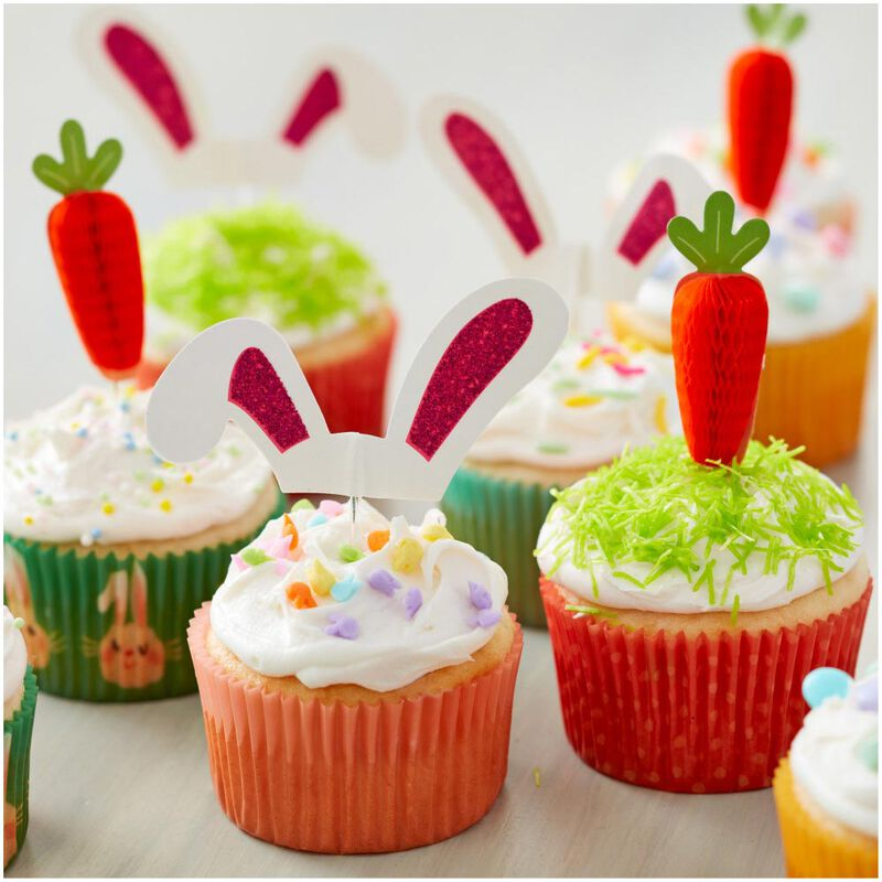 Bunny Ears Cupcake Toppers, 24-Count image number 3