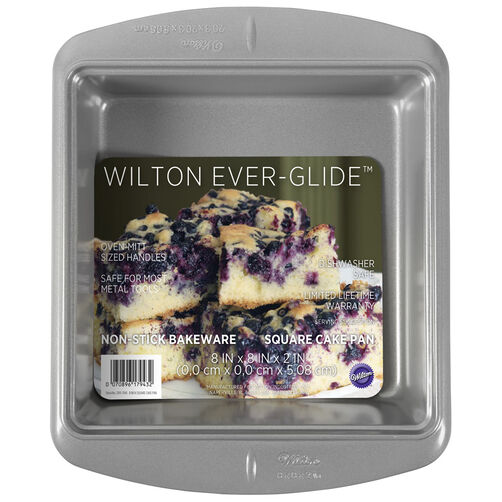 Ever-Glide Non-Stick Square Cake Pan, 8-Inch