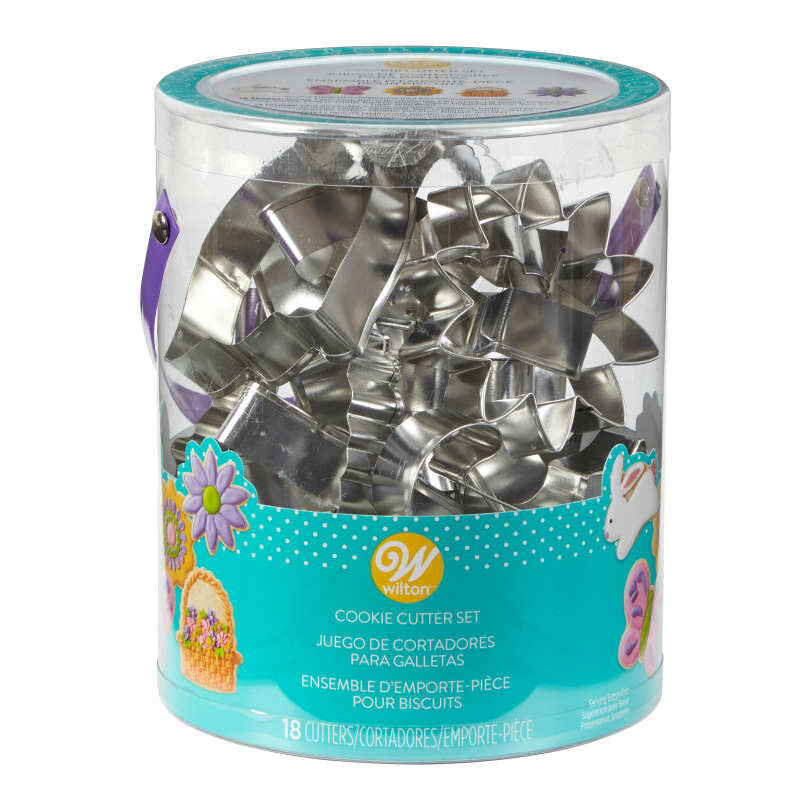 Easter Cookie Cutter Tub, 18-Count Set image number 1