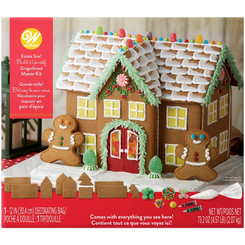 Build it Yourself Grand Gingerbread Manor Decorating Kit image number 0