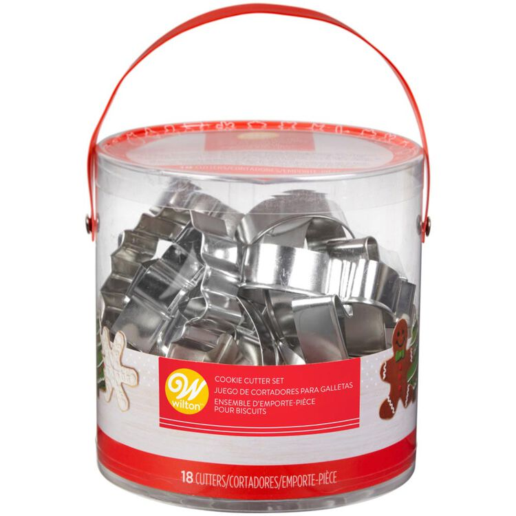 Holiday Shapes Metal Cookie Cutter Set, 18-Piece