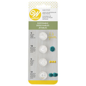 Disposable Cake Decorating Tips Set, 4-Pieces
