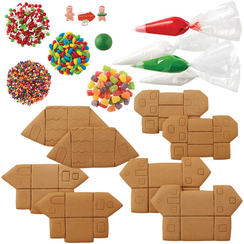 Build it Yourself Party Town Gingerbread Village Decorating Kit image number 2