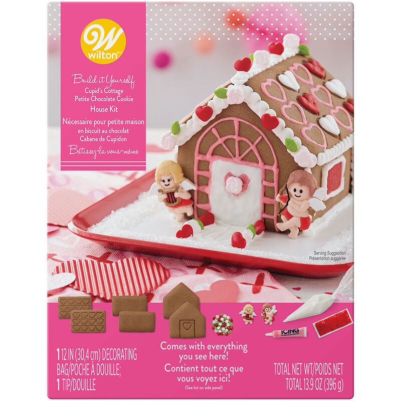 Valentine's Day cookie house decorating kit image number 0
