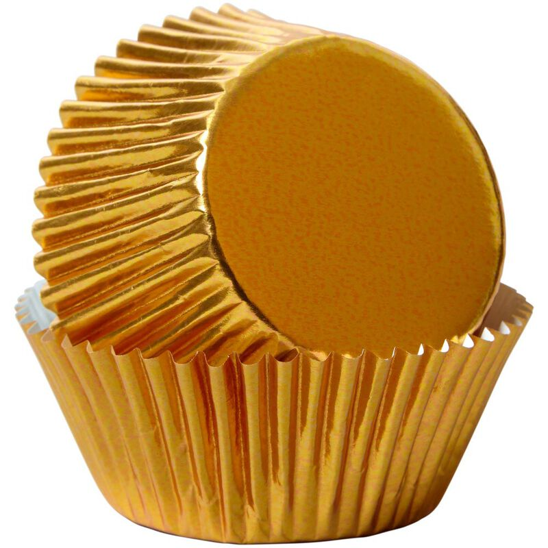 Gold Foil Cupcake Liners, 24-Count image number 2