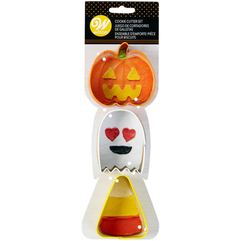 Pumpkin, Ghost and Candy Corn Cookie Cutter Set, 3-Piece image number 1