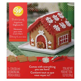 Build-it-Yourself Gingerbread Doghouse Decorating Kit