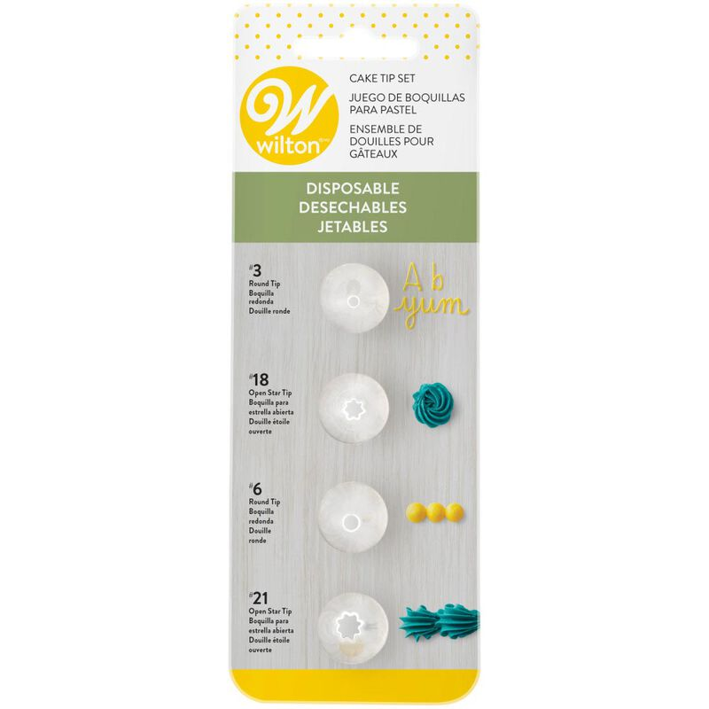 Disposable Cake Decorating Tips Set, 4-Pieces image number 2