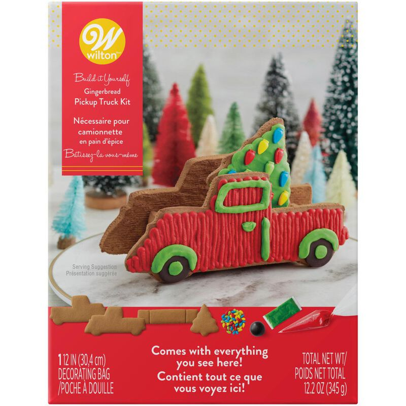 Build it Yourself Gingerbread Pickup Truck Decorating Kit image number 0