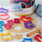 Cookie Cutters Set, 101-Piece - Alphabet, Numbers and Holiday Cookie Cutters