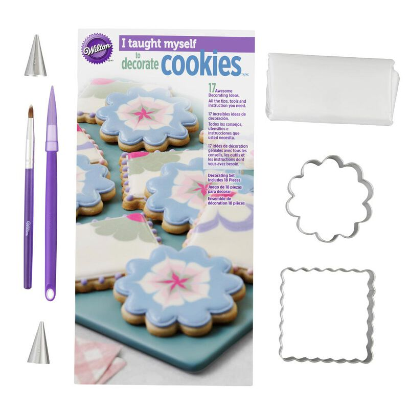 """I Taught Myself To Decorate Cookies"" Cookie Decorating Book Set - How To Decorate Cookies image number 3"