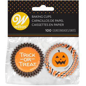 Trick or Treat and Jack-O'-Lantern Cupcake Liners, 100-Count