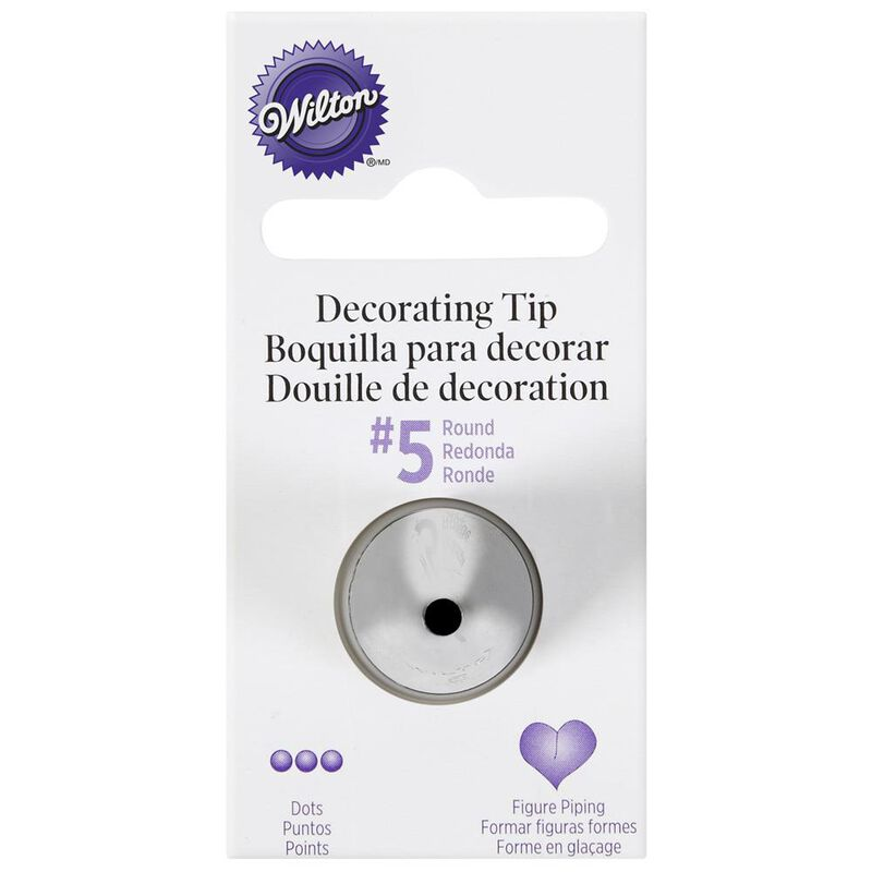 Wilton Piping Tip- #5 Round Decorating Tip image number 0