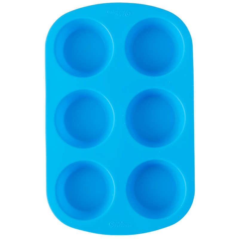 Easy-Flex Silicone Muffin and Cupcake Pan, 6-Cup image number 0