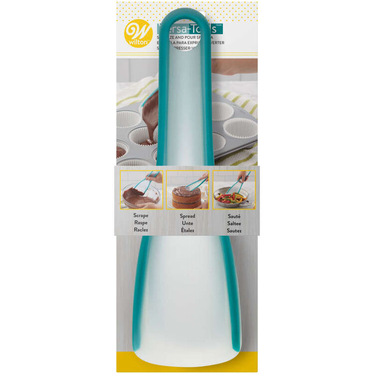 Versa-Tools Silicone Squeeze, Spread and Pour Spatula for Cooking and Baking